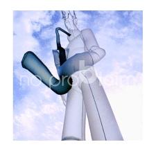 Skydancer 2-beinig Saxophonspieler