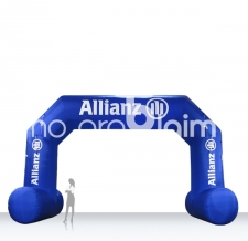 Zielbogen aufblasbar mit Standfüsse - Bogen Classic Allianz