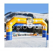 Aufblasbarer Zielbogen für Skirennen - Bogen Classic Draisinentour