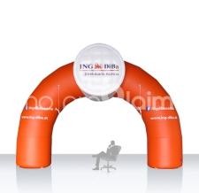 Aufblasbarer Durchfahrtsbogen - Bogen Round Ing DiBa