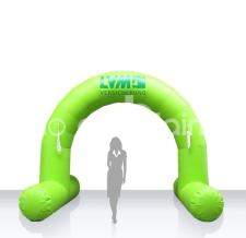 Start- und Zielbogen aufblasbar mit Standfüsse - Bogen Round LVM