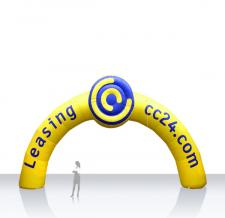 Riesige Werbebögen - Bogen Round Leasing cc24