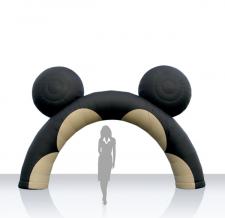 Aufblasbarer Bogen round mit Ohren - Bogen Round mit Ohren