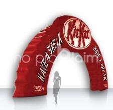 Start Zielbogen aufblasbar - Bogen Sonderform KitKat
