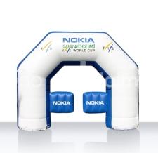 aufblasbares exit gate Nokia - Bogen Sonderform Nokia