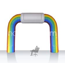 aufblasbarer Einlaufbogen Regenbogen - Bogen Sonderform Regenbogenparade