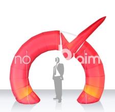 Einlauftunnel aufblasbar - Werbebogen Sonderform mit 3D Element