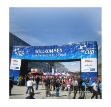 Start Zielbogen eckig - Bogen Corner swisscom cup