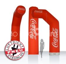 aufblasbarer luftdichter teilbarer Werbebogen - Pneu Bogen Zipp Off Coca Cola