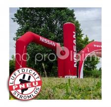 luftdichter aufblasbarer Zielbogen - Pneu Bogen Nissan