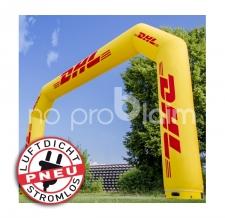 aufblasbarer Start- und Zielbogen - luftdicht ohne Gebläse - Pneu Bogen DHL