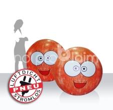 luftdichte aufblasbare Riesenbälle - 4c bedruckt - emojis