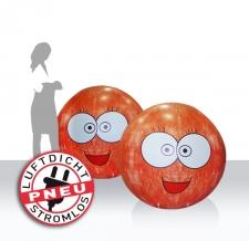 luftdichte Riesenbälle - 4c bedruckt - emojis