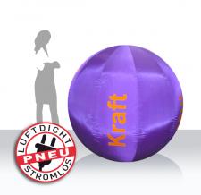 Eventball aufblasbar - Kraft violett satiniert