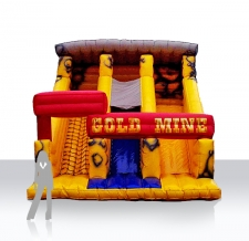 Sonderform aufblasbare Rutsche XXL gold mine