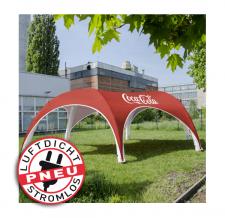riesiges aufblasbares Werbezelt stromlos - Pneu Zelt HEXA Coca Cola