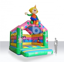 Hüpfburg mit Dach - Ausführung Clown