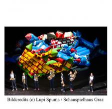 Kunstobjekt aufblasbar - LUPI SPUMA Schauspielhaus Graz