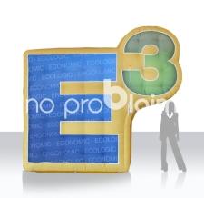 aufblasbares XXL Logo E3