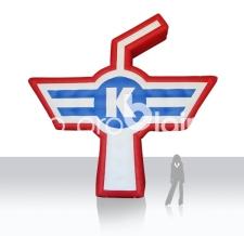 auffälliges aufblasbares Logo EHC Klur