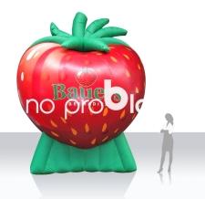 Luftgefülltes Logo XXL - Erdbeere Bauers