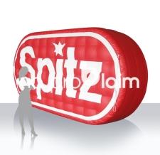 Logo aufblasbar - Spitz Fruchtsaft