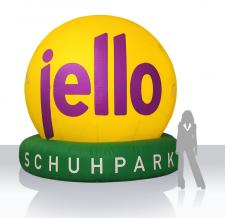 Luftgefülltes großes Logo - jello Schuhe