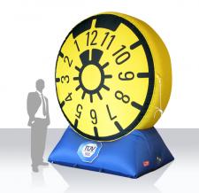 Aufblasbares Logo - TÜV-Plakette