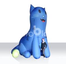 aufblasbare Tiere - riesige aufblasbare Katze Polizei Baden Württemberg