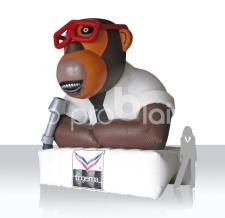 riesengroßer aufblasbare Affe für Dachmontage - Maskottchen Trigema Affe