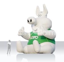 riesige aufblasbare Werbefigur - aufblasbares Maskottchen - Lottoschweinchen