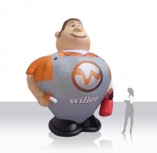 aufblasbare XXL Figur Willer