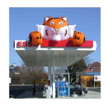 Aufblasbares Dachobjekt Maskottchen Esso Tiger