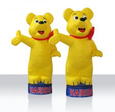 Maskottchen aufblasbar - Haribo Goldbären mit Sockelsystem