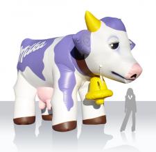 aufblasbare Kuh - Sonderform aufblasbare Milka Kuh