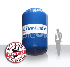 Werbung auf dem Wasser - schwimmende Werbung - Bojen Liwest