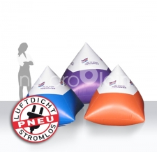 Werbebojen in Pyramidenform - aufblasbar