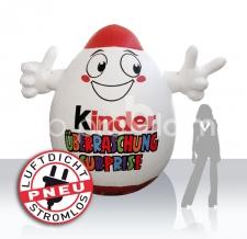 Werbung am Wasser - Boje Sonderform Kinderüberraschungs-Ei