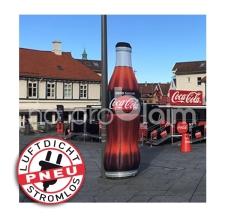 Coca Cola Flaschen - riesig - aufblasbar - luftdicht - Pneu Flaschen Coca Cola