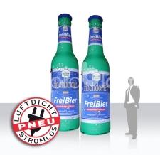 aufblasbare luftdichte Riesenflaschen - Pneu Flaschen Hochdorfer FreiBier