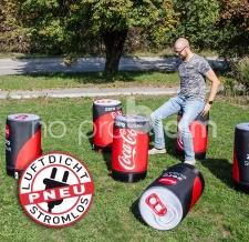 aufblasbare Hocker für Messen - Pneu Hocker Coca Cola