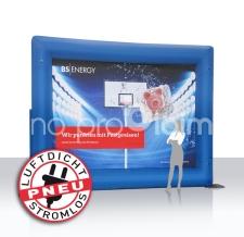 aufblasbare Rückwand - luftgefüllter luftdichte Rahmen - Messerückwand - Pneu Bogen BS Energy