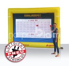 aufblasbare luftdichte Rückwand - Lottospiel mit Magneten - Lotto Eurojackpot