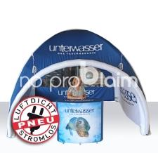 aufblasbarer Messestand luftdicht - Pneu Theke und Pneu Zelt Unterwasser