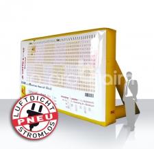 aufblasbares luftdichtes Spiel mit magnetischer Rückwand - Pneu Sonderform Magnetwand Lotto