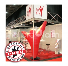 Aufblasbares Logo stromlos - Pneu Sonderform Logo Rat und Tat
