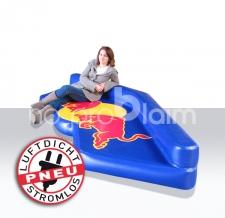 spezielle Luftmatratzen aus DWS Material - Pneu Sonderform Matratze Red Bull