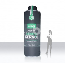 aufblasbarer Blickfang XXL - aufblasbare riesige Flasche Kürbis Kernöl Resch