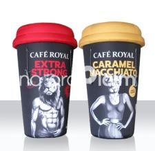 riesige aufblasbare Produdtnachbildung - Riesenbecher - Cafe Royal