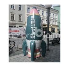 riesige aufblasbare Rakete start up Ried
